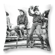 E Throw Pillow