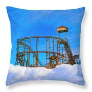E Ticket Ride Throw Pillow