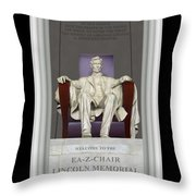 Ea-z-chair Lincoln Memorial Throw Pillow