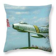 Eaa F-86 Sabre Throw Pillow