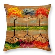 Each Tree By Its Smell Throw Pillow