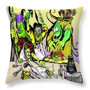 Eager Scientists Throw Pillow