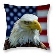 Eagle 3 Throw Pillow