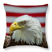Eagle 5 Throw Pillow