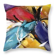 Eagle And Doves Abstract 1510 Throw Pillow