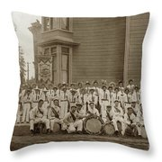 Eagle Band's Drum Corps. Native Sons Of The Golden West  Circa 1908 Throw Pillow