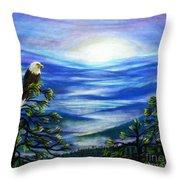 Eagle Blue Ridge Mountain Sunrise Throw Pillow