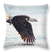 Eagle Catch Throw Pillow