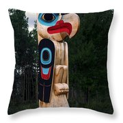 Eagle Clan Totem Pole Throw Pillow