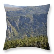 Eagle Cliff - Franconia Notch State Park New Hampshire Throw Pillow