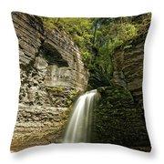 Eagle Cliff Falls Throw Pillow