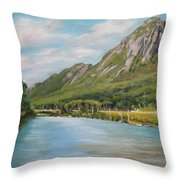 Eagle Cliff New Hampshire Throw Pillow
