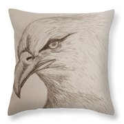Eagle Drawing 1 Throw Pillow