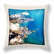 Eagle Eye Of An Ocean Bay Throw Pillow