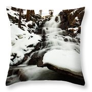 Eagle Falls Raging On Ice Throw Pillow