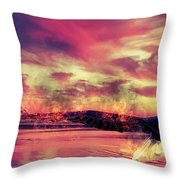 Eagle In Fire Throw Pillow