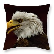 Eagle In Profile Throw Pillow
