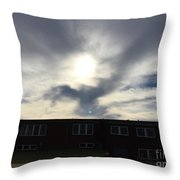 Eagle Cloud In The Carolina Sky Throw Pillow