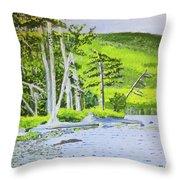 Eagle Lake, Acadia, Maine Throw Pillow