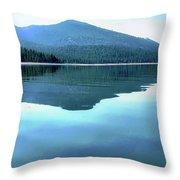 Eagle Lake Blues Throw Pillow
