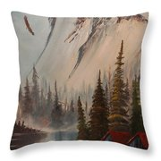 Eagle Mountain Throw Pillow
