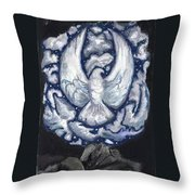 Eagle Of Clouds -- Actual Sky I Saw Throw Pillow