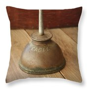 Eagle Oil Can Throw Pillow