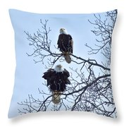 Eagle Pair Throw Pillow
