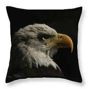 Eagle Profile 3 Throw Pillow