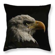 Eagle Profile 3 Throw Pillow
