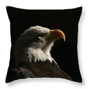 Eagle Profile 4 Throw Pillow