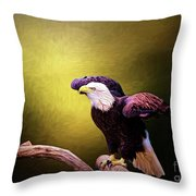 Eagle Ready For Take Off Throw Pillow