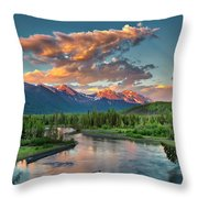 Eagle River Sunset  Throw Pillow