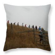 Eagle Rock Hike Throw Pillow
