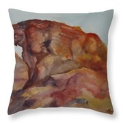 Eagle Rock In Valley Of Fire Throw Pillow
