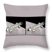 Eagle Shuttle - Gently Cross Your Eyes And Focus On The Middle Image Throw Pillow