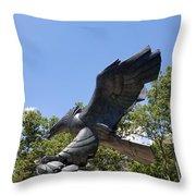 Eagle Statue  Throw Pillow