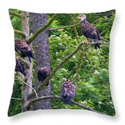 Eagle Tree Throw Pillow