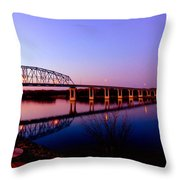 Eagle Watch Along The Mississippi Throw Pillow