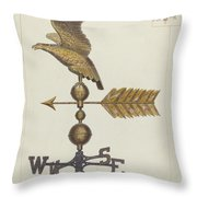 Eagle Weather Vane Throw Pillow