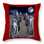 Eagleman Poles Throw Pillow