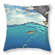 Eaglenfish Throw Pillow