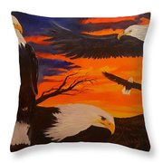 Eagles Are Back                 76 Throw Pillow