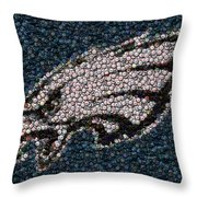 Eagles Bottle Cap Mosaic Throw Pillow
