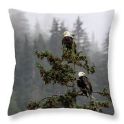 Eagles On Watch 1 Throw Pillow