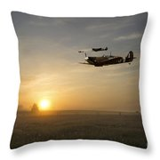 Eagles Rising Throw Pillow