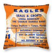 Eagles Tampa Stadium 1975 Throw Pillow