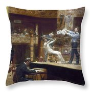Eakins: Between Rounds Throw Pillow by Granger
