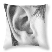 Ear Study Throw Pillow