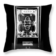 Early 1900s Type Cs Watthour Meter In Black And White Throw Pillow